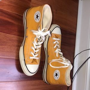 Band new yellow high top converse